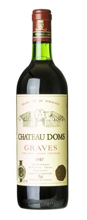 1987 Graves Chateau Doms 0,75l